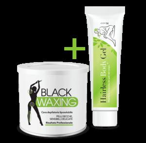 black waxing+hairless body gel